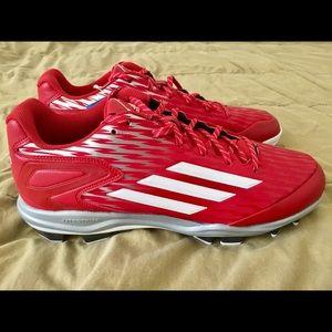 Adidas PowerAlley 3 TPU Baseball Cleats Sz 12.5